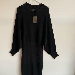 Allsaints merino wool black dress  medium new tags